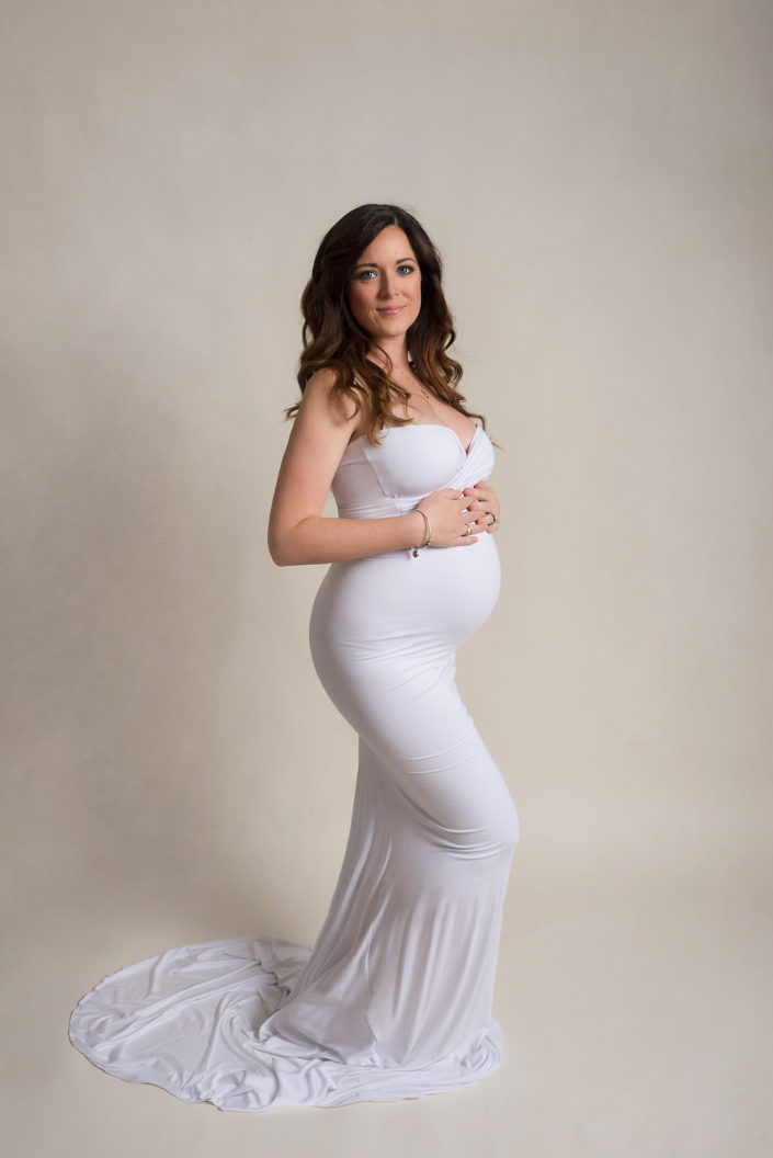 Creative Pregnancy Shoot Maternity Gown CLJ Photography Frisco TX